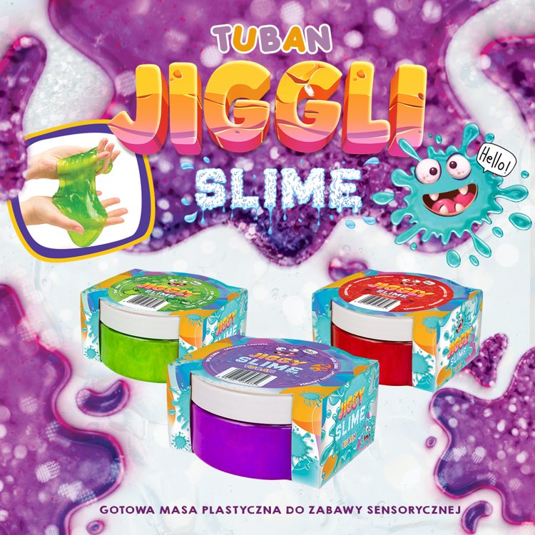 JIGGLY SLIME – RED STRAWBERRY 100G